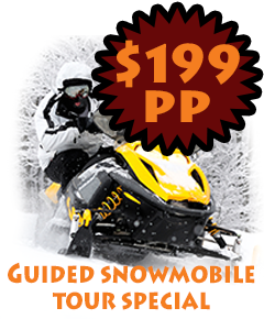Guided snowmobile tour special $169